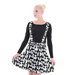 Panda Pattern Suspender Skater Skirt