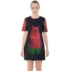 Watermelon Cat Mini Dress