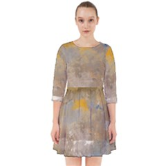Sunset In The Mountains Smock Dress