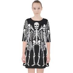 Angel Skeleton Pocket Dress