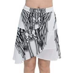 Angel Skeleton Chiffon Wrap
