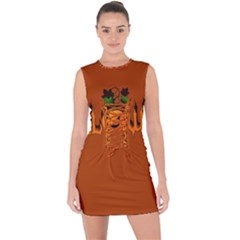 Halloween Lace Up Front Bodycon Dress