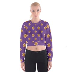 Ditsy Floral Pattern Design Cropped Sweatshirt