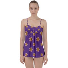 Ditsy Floral Pattern Design Babydoll Tankini Set