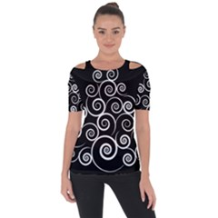 Abstract Spiral Christmas Tree Short Sleeve Top