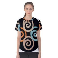 Abroad Spines Circle Women s Cotton Tee
