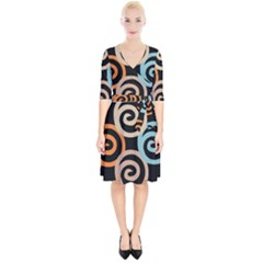 Abroad Spines Circle Wrap Up Cocktail Dress