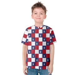 American Flag Star White Red Blue Kids  Cotton Tee