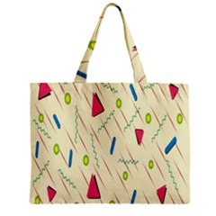 Background  With Lines Triangles Zipper Mini Tote Bag