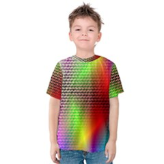 Abstract Rainbow Pattern Colorful Stars Space Kids  Cotton Tee