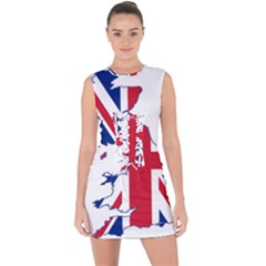 Britain Flag England Nations Lace Up Front Bodycon Dress