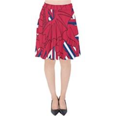 Alternatively Mega British America Red Dragon Velvet High Waist Skirt