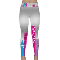 Building Polka City Rainbow Classic Yoga Leggings