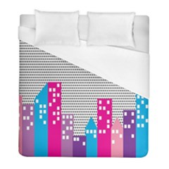 Building Polka City Rainbow Duvet Cover (full/ Double Size)