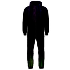 Colorful Light Ray Border Animation Loop Rainbow Motion Background Space Hooded Jumpsuit (men)