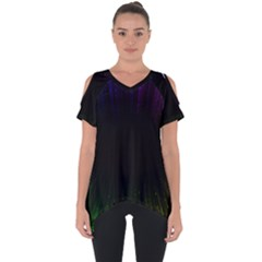 Colorful Light Ray Border Animation Loop Rainbow Motion Background Space Cut Out Side Drop Tee