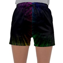 Colorful Light Ray Border Animation Loop Rainbow Motion Background Space Sleepwear Shorts