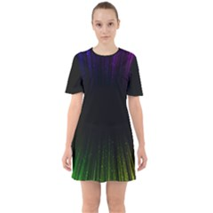 Colorful Light Ray Border Animation Loop Rainbow Motion Background Space Mini Dress