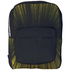 Colorful Light Ray Border Animation Loop Yellow Full Print Backpack