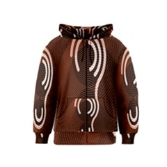 Fan Line Chevron Wave Brown Kids  Zipper Hoodie