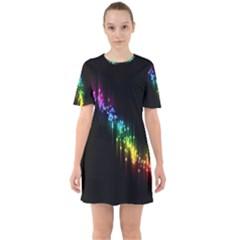 Illustration Light Space Rainbow Mini Dress