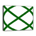 Lissajous Small Green Line Canvas 14  x 11  View1