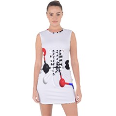 Nitroglycerin Lines Dna Lace Up Front Bodycon Dress