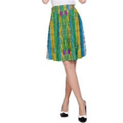 Rainbows Rain In The Golden Mangrove Forest A Line Skirt