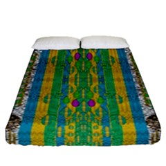 Rainbows Rain In The Golden Mangrove Forest Fitted Sheet (queen Size)