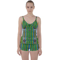 Rainbows Rain In The Golden Mangrove Forest Tie Front Two Piece Tankini