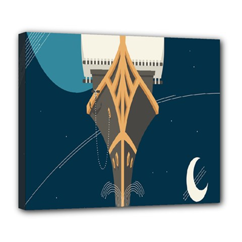 Planetary Resources Exploration Asteroid Mining Social Ship Deluxe Canvas 24  X 20