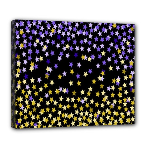 Space Star Light Gold Blue Beauty Deluxe Canvas 24  X 20