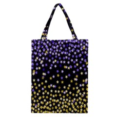 Space Star Light Gold Blue Beauty Classic Tote Bag