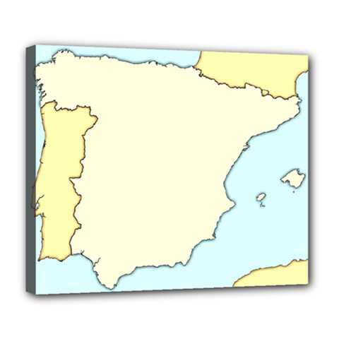 Spain Map Modern Deluxe Canvas 24  X 20