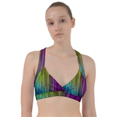 Rainbow Bubble Curtains Motion Background Space Sweetheart Sports Bra