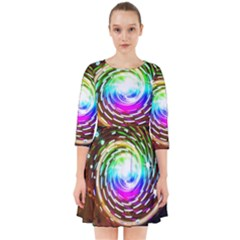 Space Star Planet Light Galaxy Moon Smock Dress