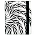 Spiral Leafy Black Floral Flower Star Hole Samsung Galaxy Tab 7  P1000 Flip Case View2