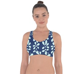 Star Flower Floral Blue Beauty Polka Cross String Back Sports Bra