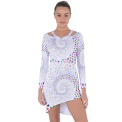 Prismatic Stars Whirlpool Circlr Rainbow Asymmetric Cut Out Shift Dress