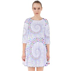 Prismatic Stars Whirlpool Circlr Rainbow Smock Dress