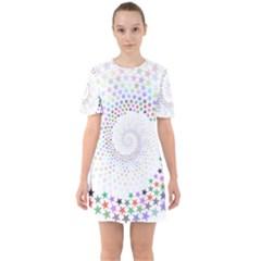 Prismatic Stars Whirlpool Circlr Rainbow Mini Dress