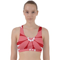 Sunflower Flower Floral Red Back Weave Sports Bra