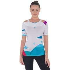 Triangle Chevron Colorfull Short Sleeve Top