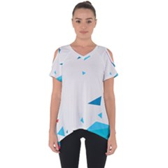 Triangle Chevron Colorfull Cut Out Side Drop Tee