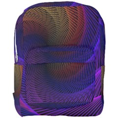 Striped Abstract Wave Background Structural Colorful Texture Line Light Wave Waves Chevron Full Print Backpack