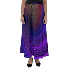 Striped Abstract Wave Background Structural Colorful Texture Line Light Wave Waves Chevron Flared Maxi Skirt