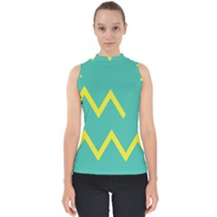 Waves Chevron Wave Green Yellow Sign Shell Top