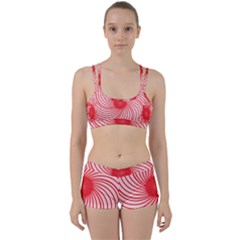 Spiral Red Polka Star Women s Sports Set
