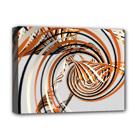 Splines Line Circle Brown Deluxe Canvas 16  X 12