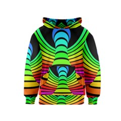 Twisted Motion Rainbow Colors Line Wave Chevron Waves Kids  Pullover Hoodie